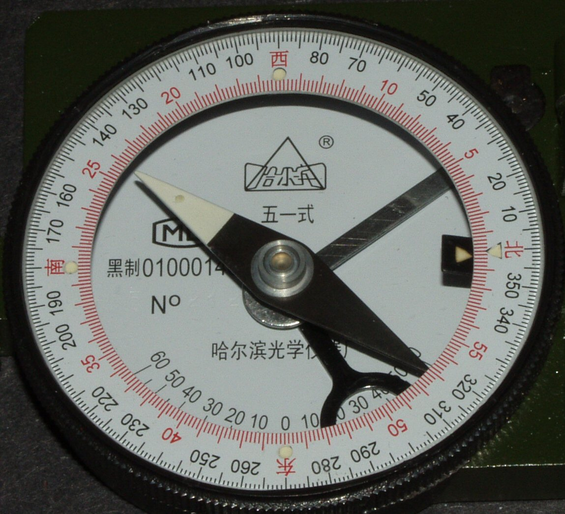 Chinese compass markings
